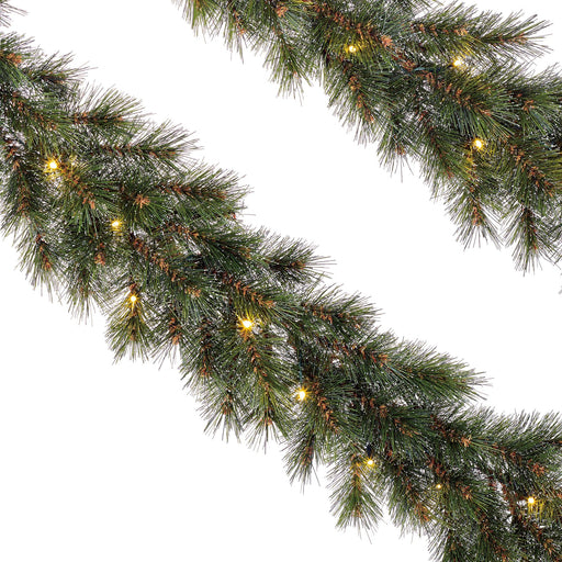 Edelman Christmas lighting Black Box Trees Glendon Pre Lit Garlands Set of Two 270cm