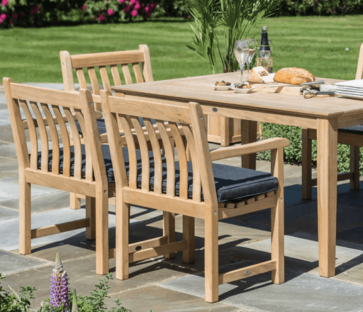 Alexander Rose Roble Rectangular 6 Seater Set - with Broadfield Armchairs - Mid Ulster Garden Centre, Ireland