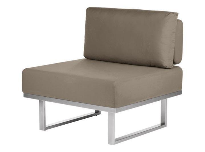 Barlow Tyrie Mercury Deep Seating Garden Lounge Set in SJA-3729 Taupe Fabric - Centre Module - Mid Ulster Garden Centre, Ireland