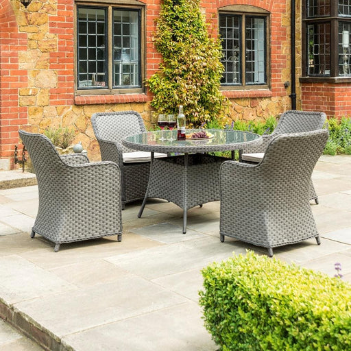 Alexander Rose Bespoke Grand Dining Set - 4 Seater (Grey)