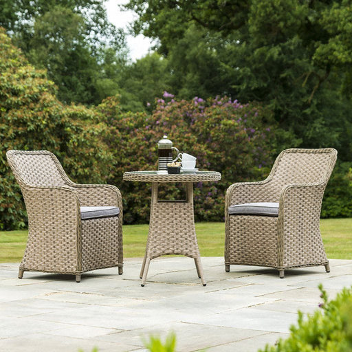 Alexander Rose Bespoke Grand Bistro 2 Seat Outdoor Dining Set in Fawn