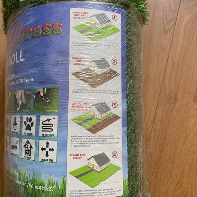 Mercer Artificial Grass Premium Artificial Grass 1m x 4m Roll