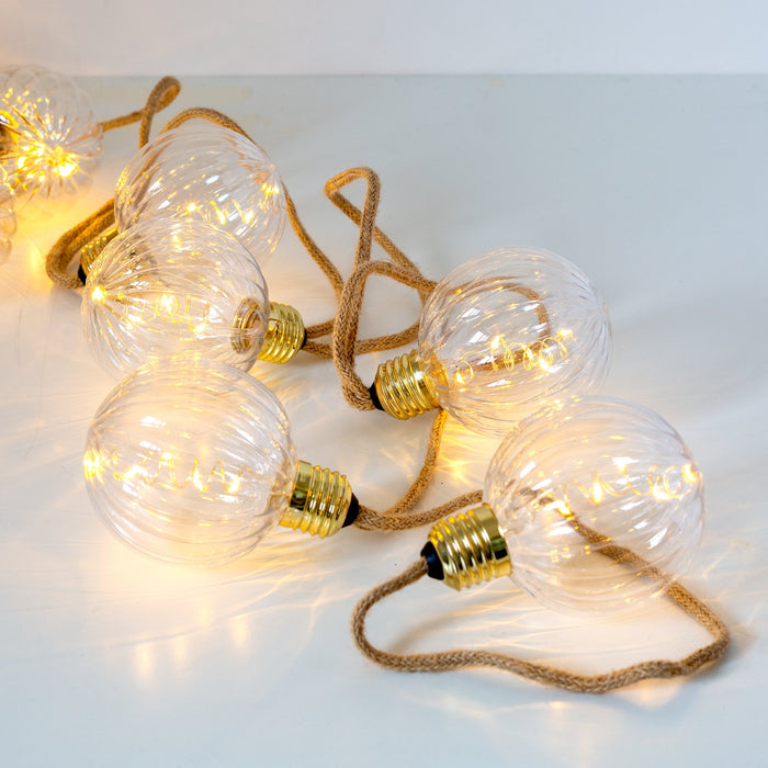 Edelman Christmas lighting Luca Lighting Party Light String Warm White (50 Lights)