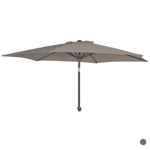 Alexander Rose Garden Furniture Accessories No thanks Alexander Rose Round Aluminum Parasol Grey 2.4m