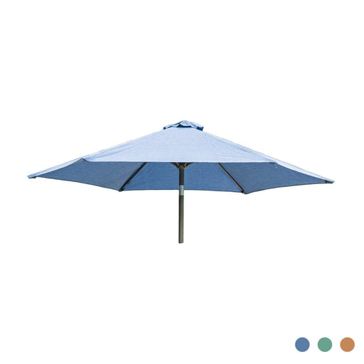 Alexander Rose Garden Furniture Accessories Alexander Rose Aluminium Round Tilting Parasol with Crank 2.5m Diameter - Blue, Jade, Ochre