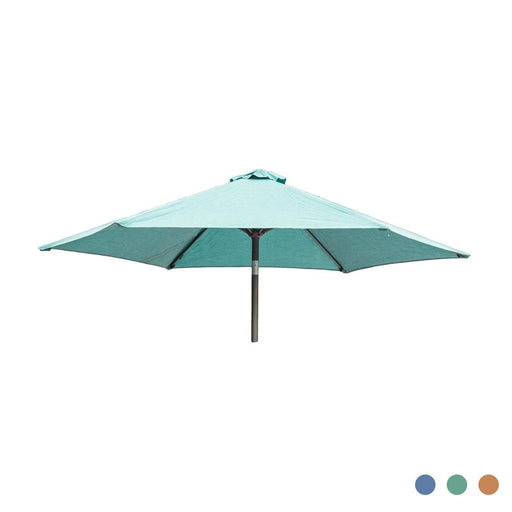 Alexander Rose Garden Furniture Accessories Alexander Rose Aluminium Round Tilting Parasol with Crank 3.0m Diameter - Blue, Jade, Ochre