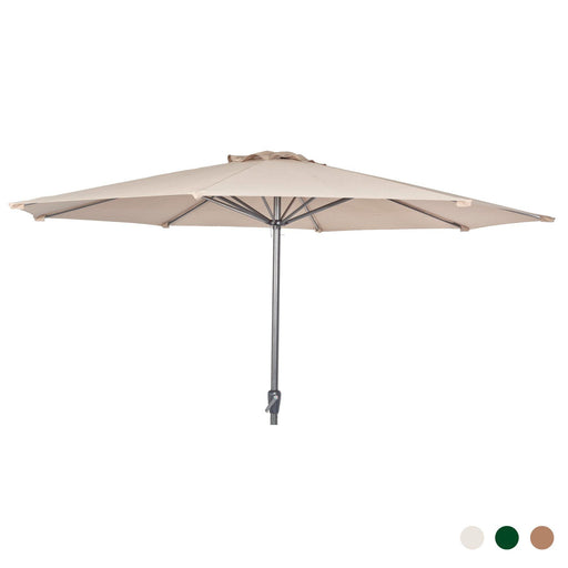 Alexander Rose Garden Furniture Accessories Alexander Rose Aluminium Round Parasol with Tilt and Crank 3.0m Diameter in Ecru, Forest Green or Taupe