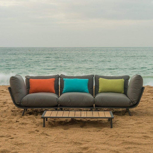 Alexander Rose Garden Furniture Alexander Rose Beach Lounge 3-Seater Sofa and Coffee Table Set