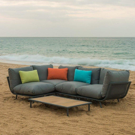 Alexander Rose Garden Furniture Alexander Rose Beach Lounge 4-Seater Corner Sofa and Coffee Table Set