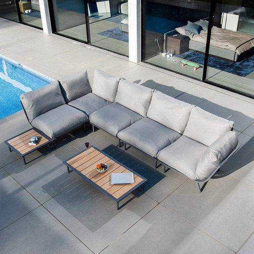 Alexander Rose Garden Furniture Alexander Rose Beach Lounge 4-Seater Sofa and Coffee Tables Set
