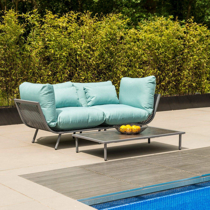 Alexander Rose Garden Furniture Alexander Rose Beach Lounge Jade 2-Seater Sofa and Coffee Table Set