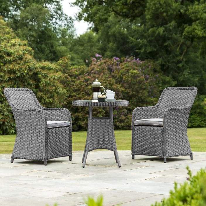 Alexander Rose Bespoke Grand 2 Seat Rattan Bistro Set (Grey) - Mid Ulster Garden Centre Northern Ireland