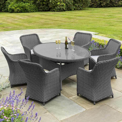 Alexander Rose Bespoke Grand Oval Dining Set - 6 Seater (Grey) - Mid Ulster Garden Centre Northern Ireland