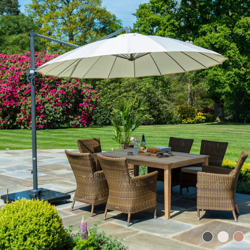 Alexander Rose Garden Furniture Accessories Alexander Rose Round Cantilever 3.0m Parasol - Charcoal, Ecru, Taupe