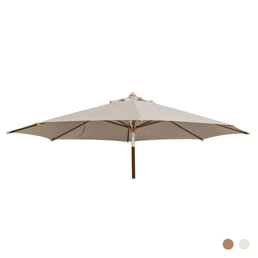 Alexander Rose Garden Furniture Accessories Alexander Rose Hardwood Round Luxury Sun Parasol with Pulley 3.5m Dia