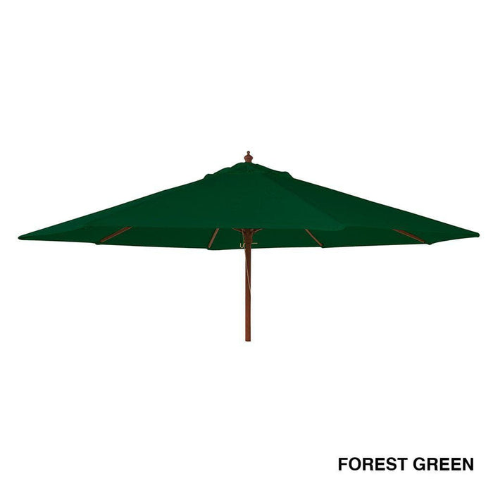 Alexander Rose Hardwood Round Parasol Umbrella with Pulley 2.7m Dia Forest Green - Mid Ulster Garden Centre, Ireland