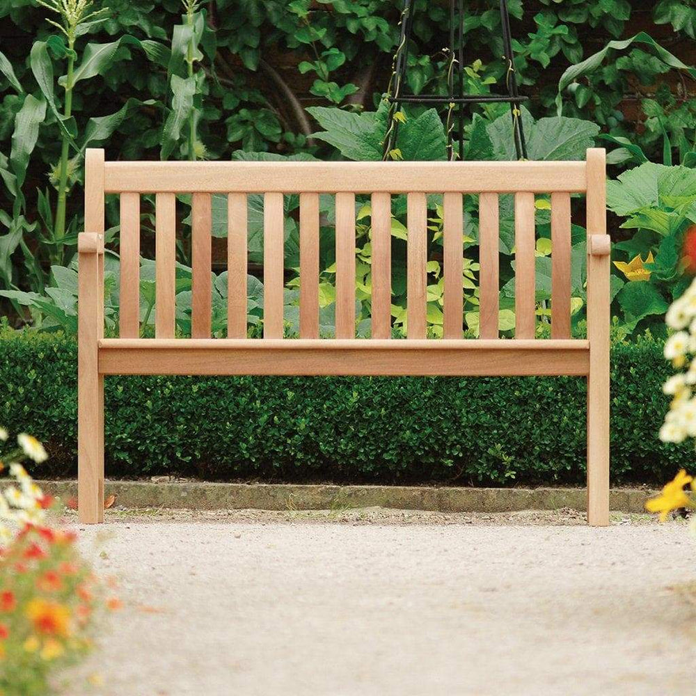 Alexander Rose Mahogany Broadfield Outdoor Bench 4ft - Mid Ulster Garden Centre, Ireland