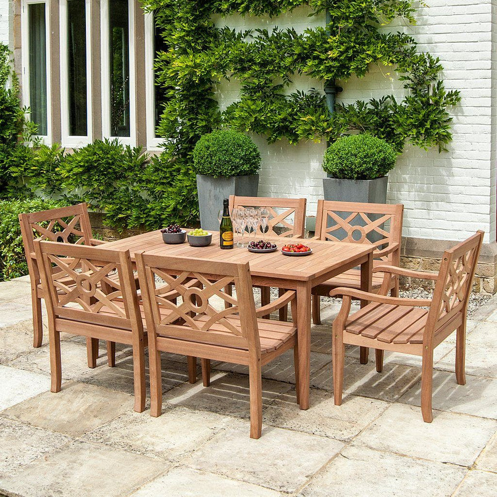 Alexander Rose Mahogany Heritage Dining Set for 6 - Mid Ulster Garden Centre, Ireland