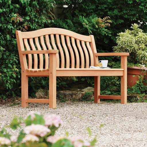 Alexander Rose Garden Furniture Alexander Rose Mahogany Turnberry Garden Bench Seat 5ft