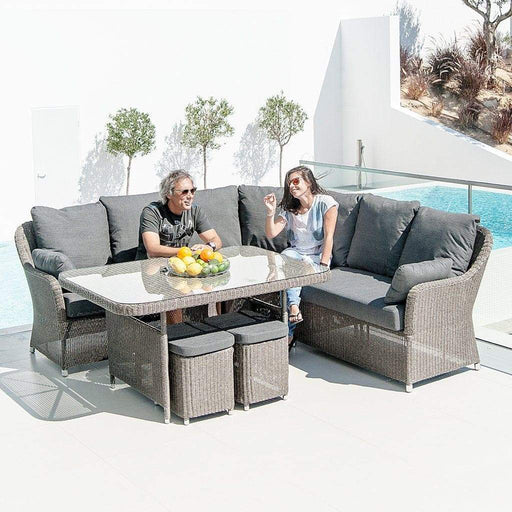 Alexander Rose Garden Furniture Alexander Rose Monte Carlo 6-Seater Corner and Cube Dining Set