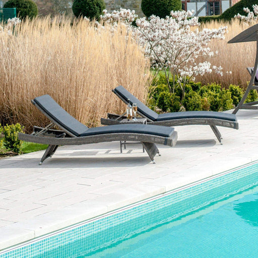 Alexander Rose Garden Furniture Alexander Rose Monte Carlo Stacking Sunbed With Cushion
