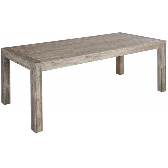 Alexander Rose Acacia Distressed Garden Table with Backless Benches in Grey - Table Cutout - Mid Ulster Garden Centre, Ireland