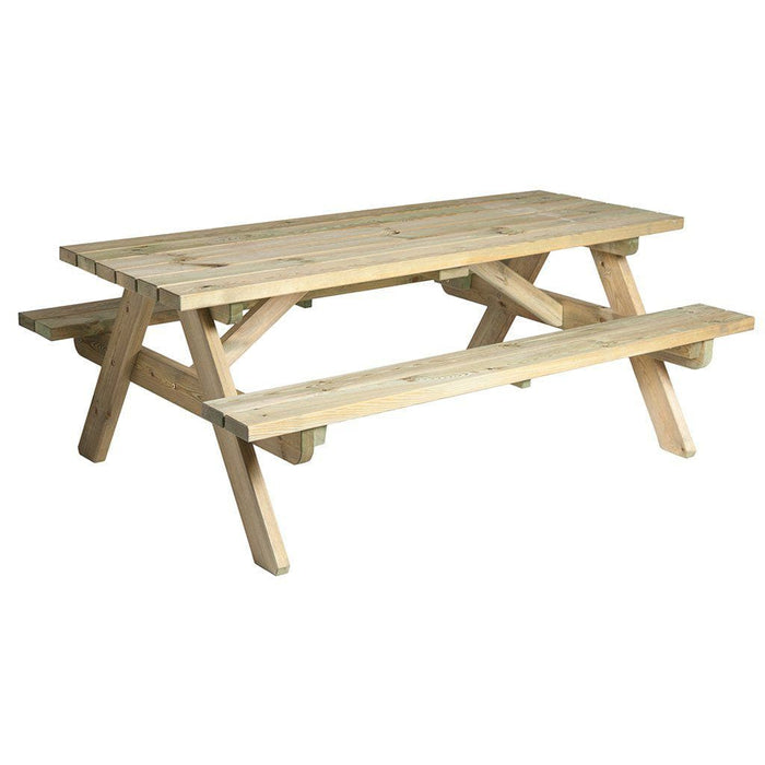 Alexander Rose Pine Heavy Duty Garden Picnic Table 6ft Cutout - Mid Ulster Garden Centre, Ireland