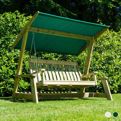 Alexander Rose Garden Furniture Alexander Rose Pine Garden Swing Bench with Canopy