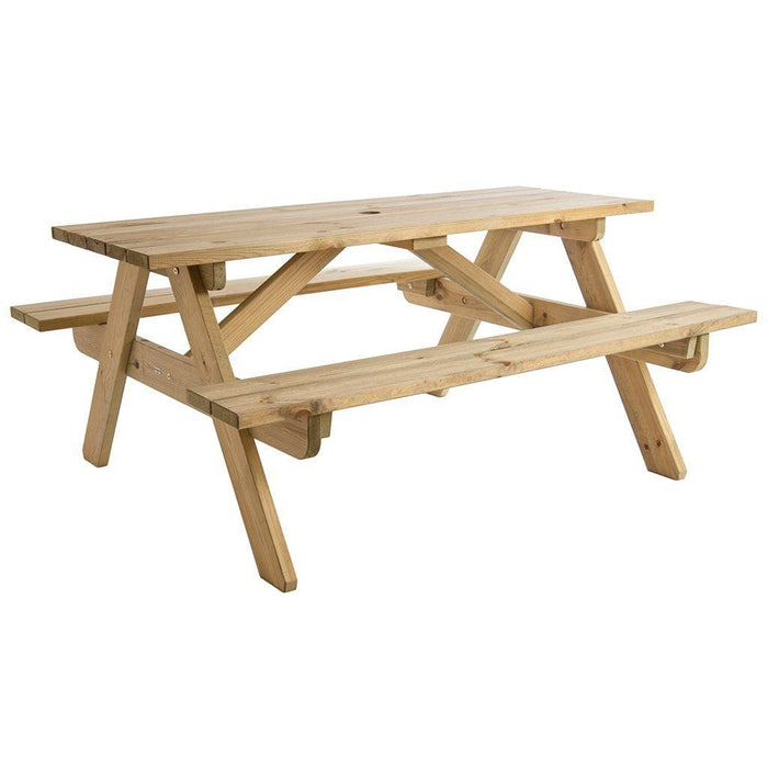 Alexander Rose Pine Woburn Garden Picnic Table 5ft Cutout- Mid Ulster Garden Centre, Ireland