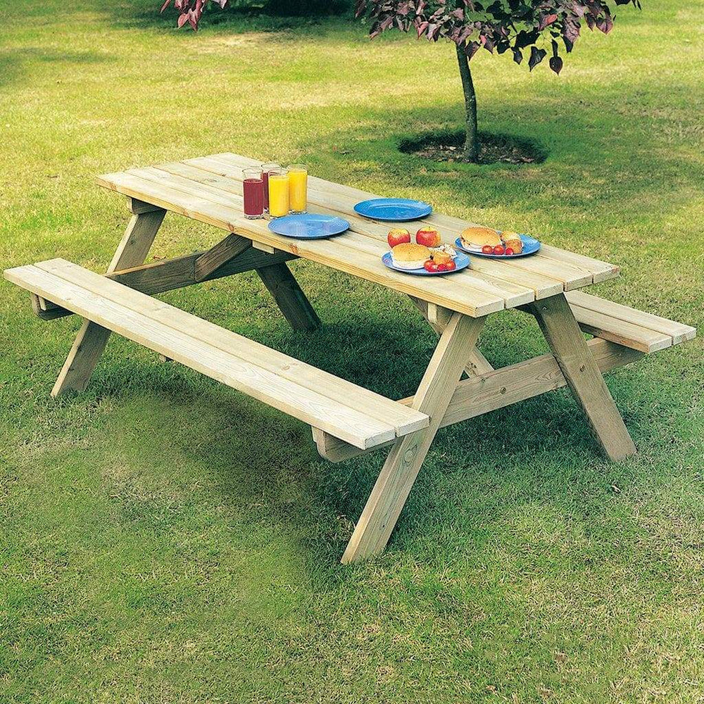 Alexander Rose Pine Woburn Garden Picnic Table 5ft - Mid Ulster Garden Centre, Ireland