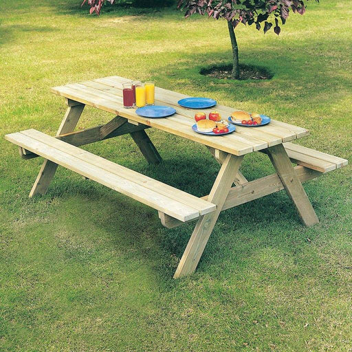 Alexander Rose Pine Woburn Garden Picnic Table 6ft - Mid Ulster Garden Centre, Ireland