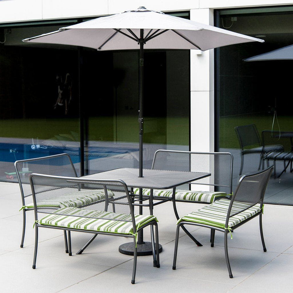 Alexander Rose Portofino 4-seater 1.1m Outdoor Dining Square Table Set - Mid Ulster Garden Centre, Ireland