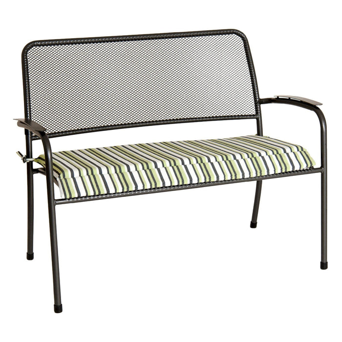 Alexander Rose Garden Furniture Accessories Green Stripe Alexander Rose - Portofino Bench Cushion