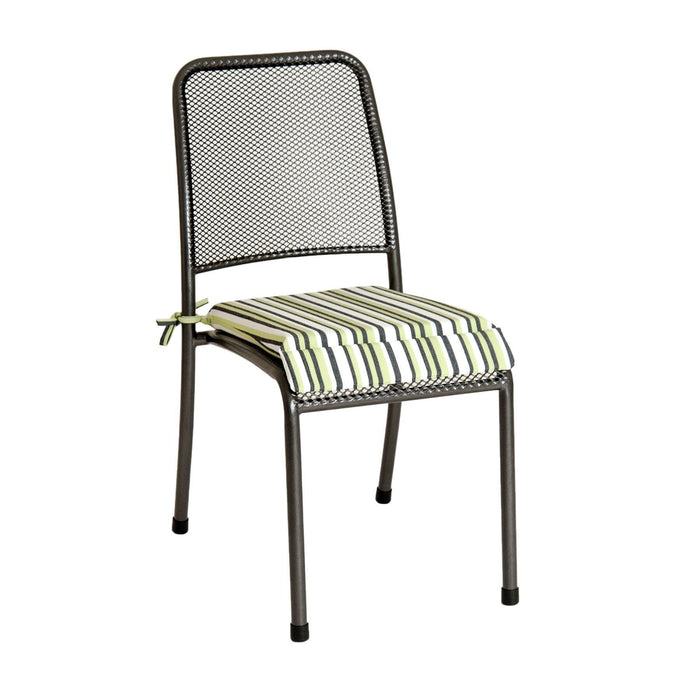 Alexander Rose Garden Furniture Accessories Green Stripe Alexander Rose - Portofino Chair Cushion
