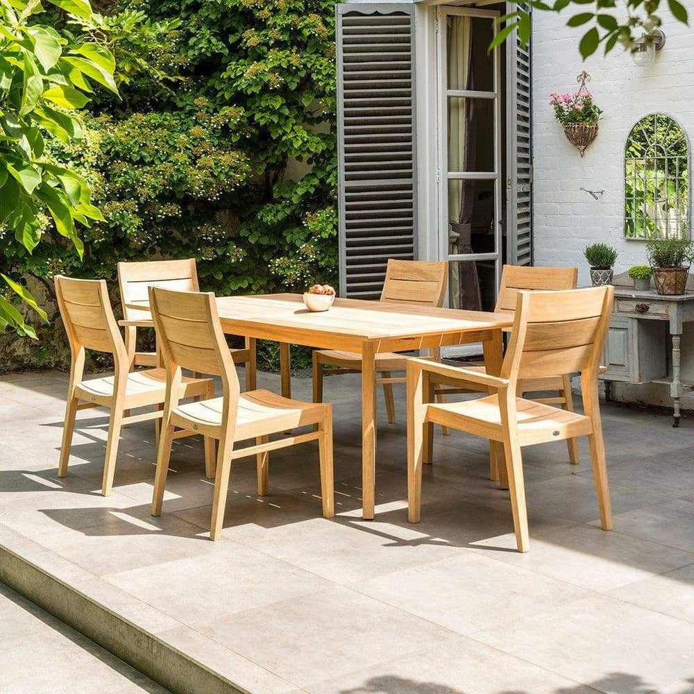 Alexander Rose Roble 6-Seater Extending Garden Table with Chairs  - Mid Ulster Garden Centre, Ireland