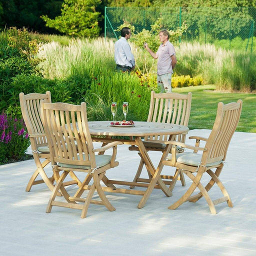 Alexander Rose Roble Folding Carver 4 Seater Set - Mid Ulster Garden Centre, Ireland
