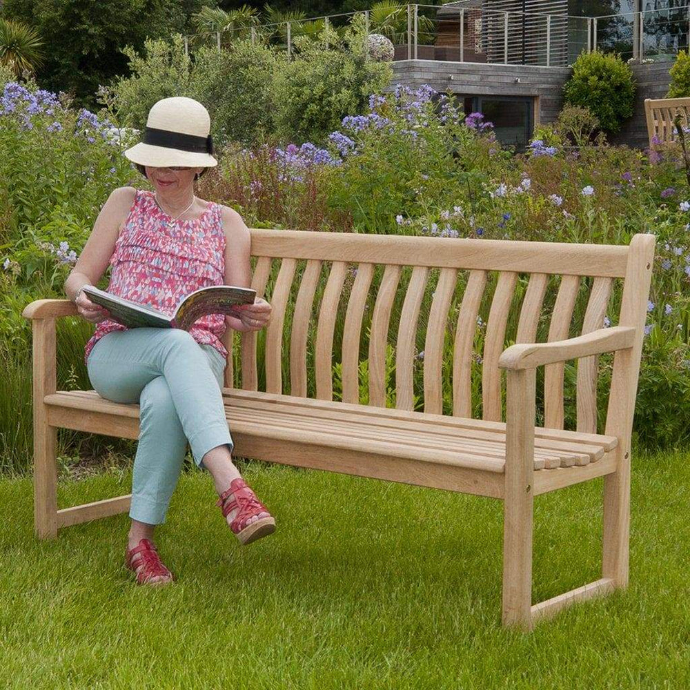 Alexander Rose Roble Broadfield Wooden Garden Bench 5ft - Mid Ulster Garden Centre, Northern Ireland