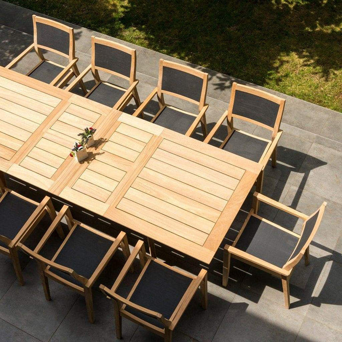 Alexander Rose Roble Extending Large Garden Table & 10 Stacking Armchairs 2-Mid Ulster Garden Centre, Ireland