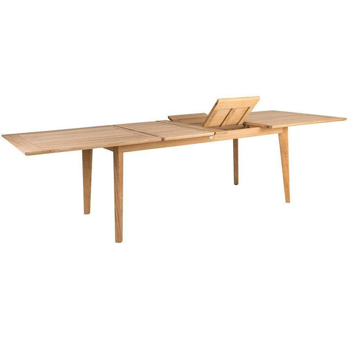 Alexander Rose Roble Extending Table 172  - Folding Out - Mid Ulster Garden Centre, Ireland