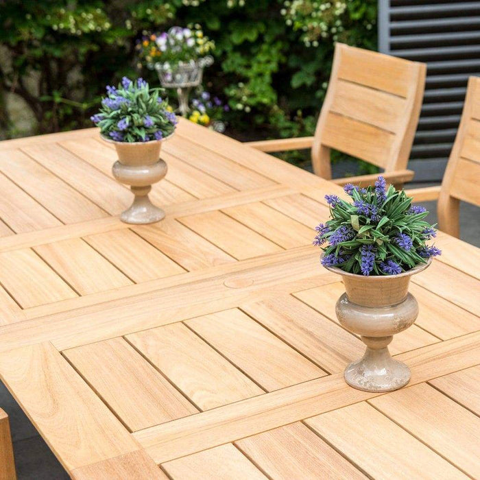 Alexander Rose Garden Furniture Alexander Rose Roble Extending Table and 10 Stackable Garden Chairs