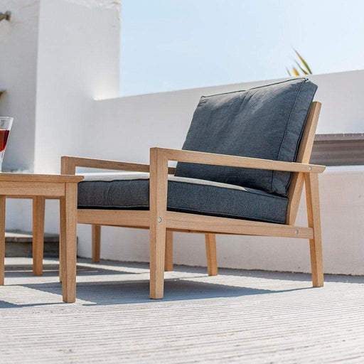 Alexander Rose Garden Furniture Alexander Rose Roble Lounge Armchair with Charcoal Cushions