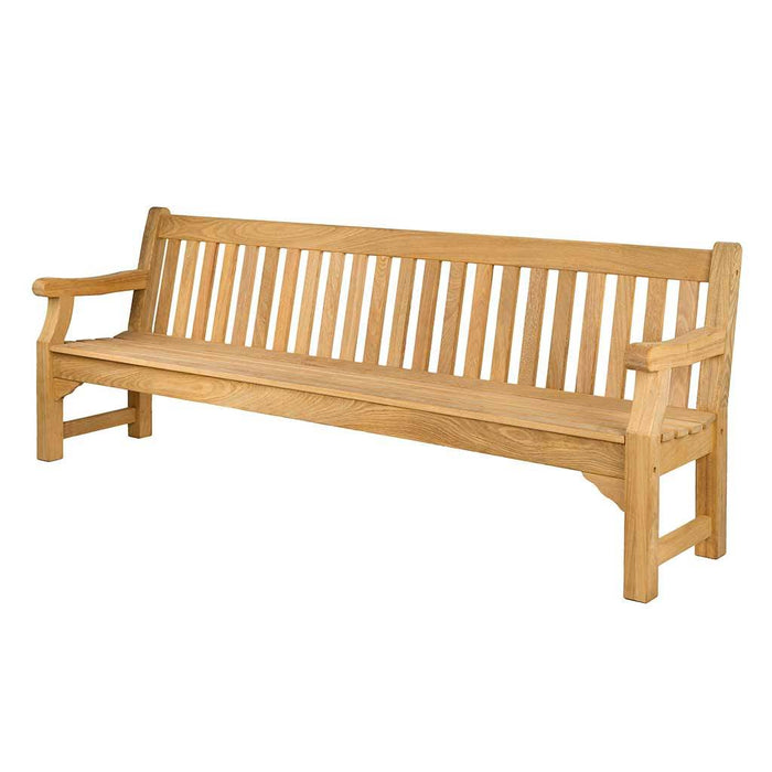 Alexander Rose Roble Wooden Outdoor Park Bench 8ft / 240cm - Mid Ulster Garden Centre, Ireland