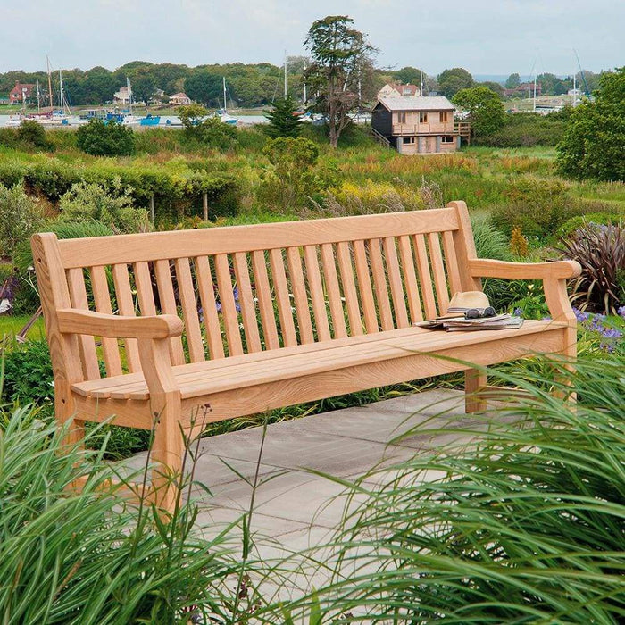Phenomenal Alexander Rose Roble Wooden Outdoor Park Bench 8Ft 240Cm Andrewgaddart Wooden Chair Designs For Living Room Andrewgaddartcom