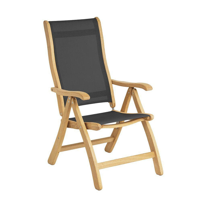 Alexander Rose Garden Furniture Alexander Rose Roble Recliner Chair Charcoal Sling