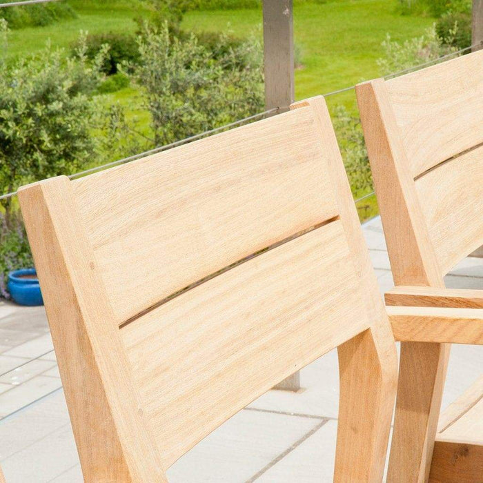 Alexander Rose Roble Rectangular 6 Seater Set - Stacking Armchair 150HB Detail - Mid Ulster Garden Centre, Ireland