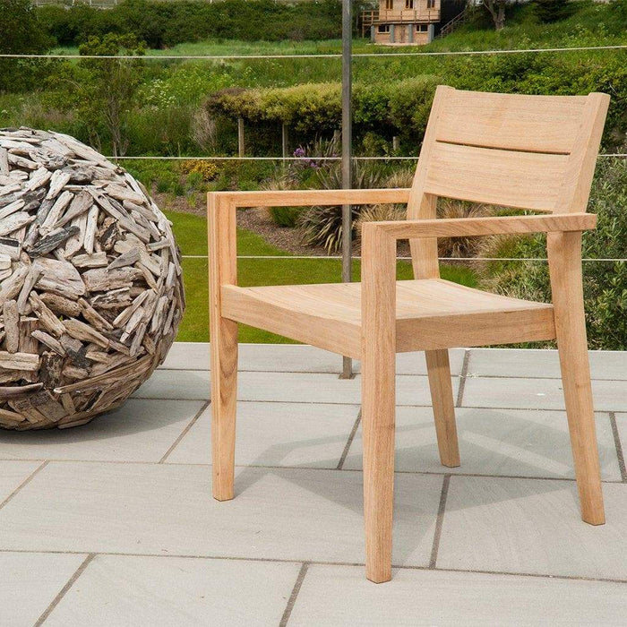 Alexander Rose Garden Furniture Alexander Rose Roble Rectangular 6 Seater Set - Stacking Armchairs