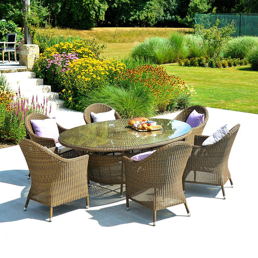 Alexander Rose Garden Furniture Alexander Rose San Marino 6 Seat Oval Garden Table Dining Set