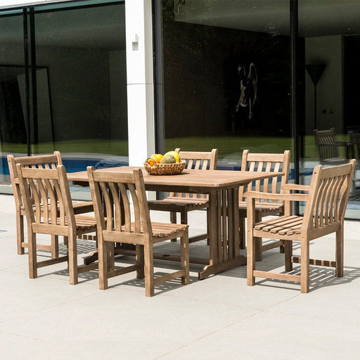 Alexander Rose Sherwood Rectangular 6 Seater Outdoor Table And Chairs Set - Mid Ulster Garden Centre, Ireland
