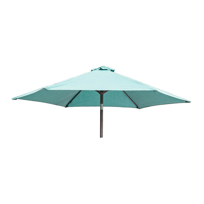 Alexander Rose Garden Furniture Accessories Jade / No Alexander Rose Aluminium Round Tilting Parasol with Crank 2.5m Diameter - Blue, Jade, Ochre