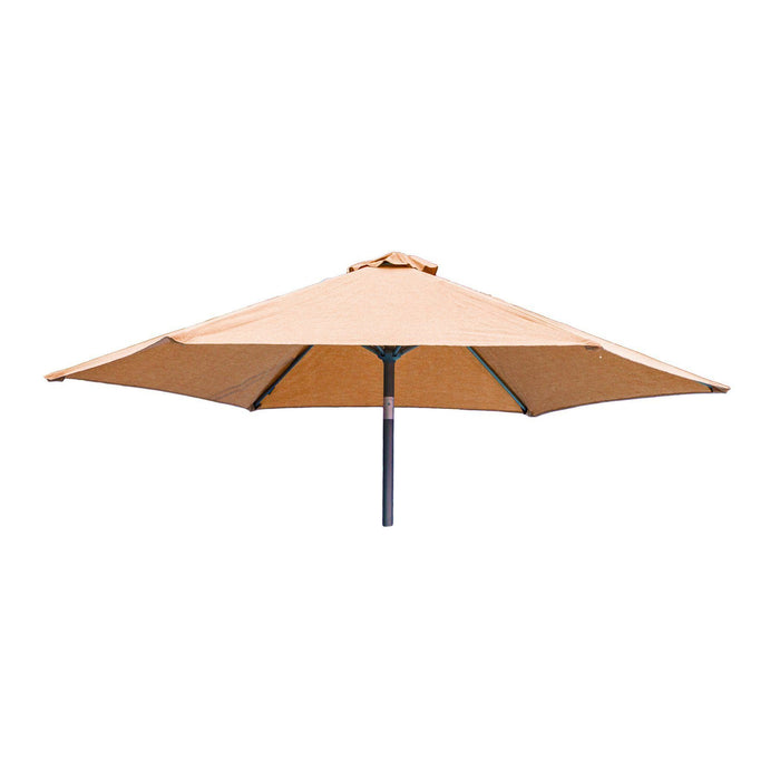 Alexander Rose Garden Furniture Accessories Ochre / No Alexander Rose Aluminium Round Tilting Parasol with Crank 2.5m Diameter - Blue, Jade, Ochre